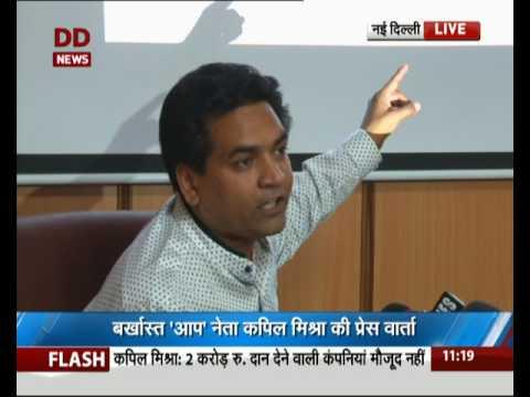 Kapil Mishra slams fresh accusations against Kejriwal