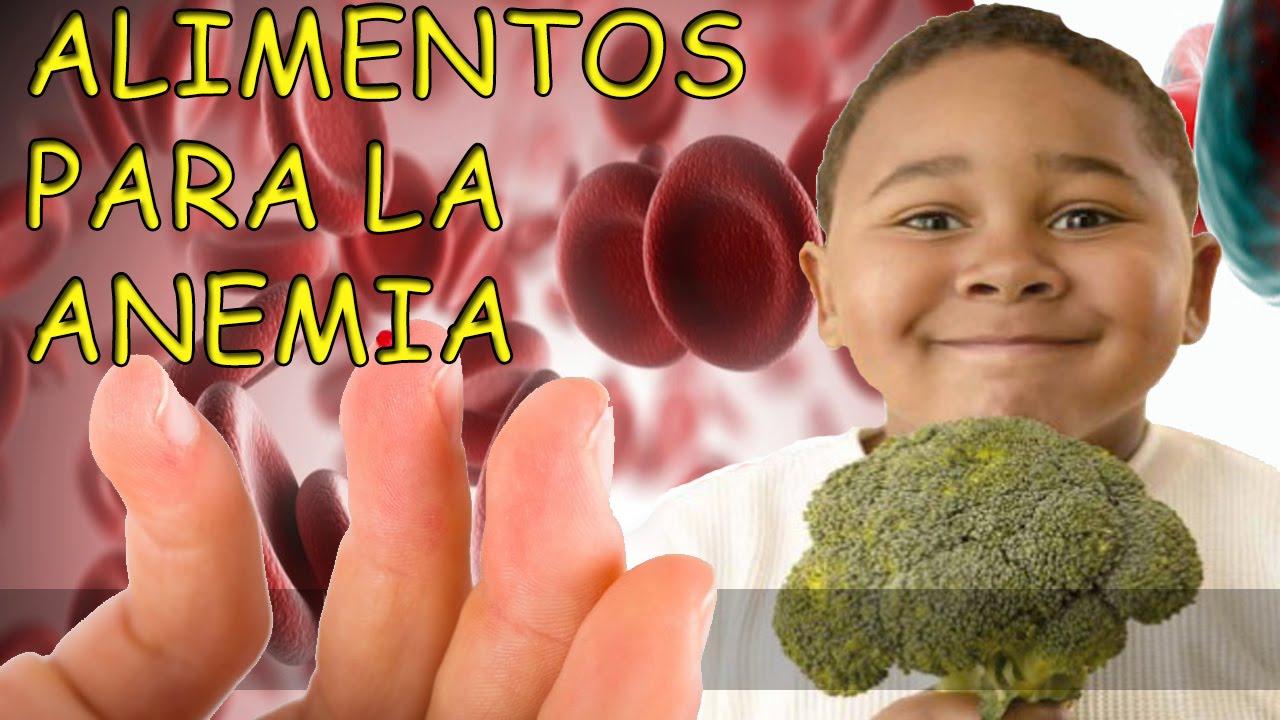 frutas y verduras para combatir la anemia en ninos