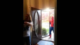 Ella Rose Wilhoite meeting Spiderman