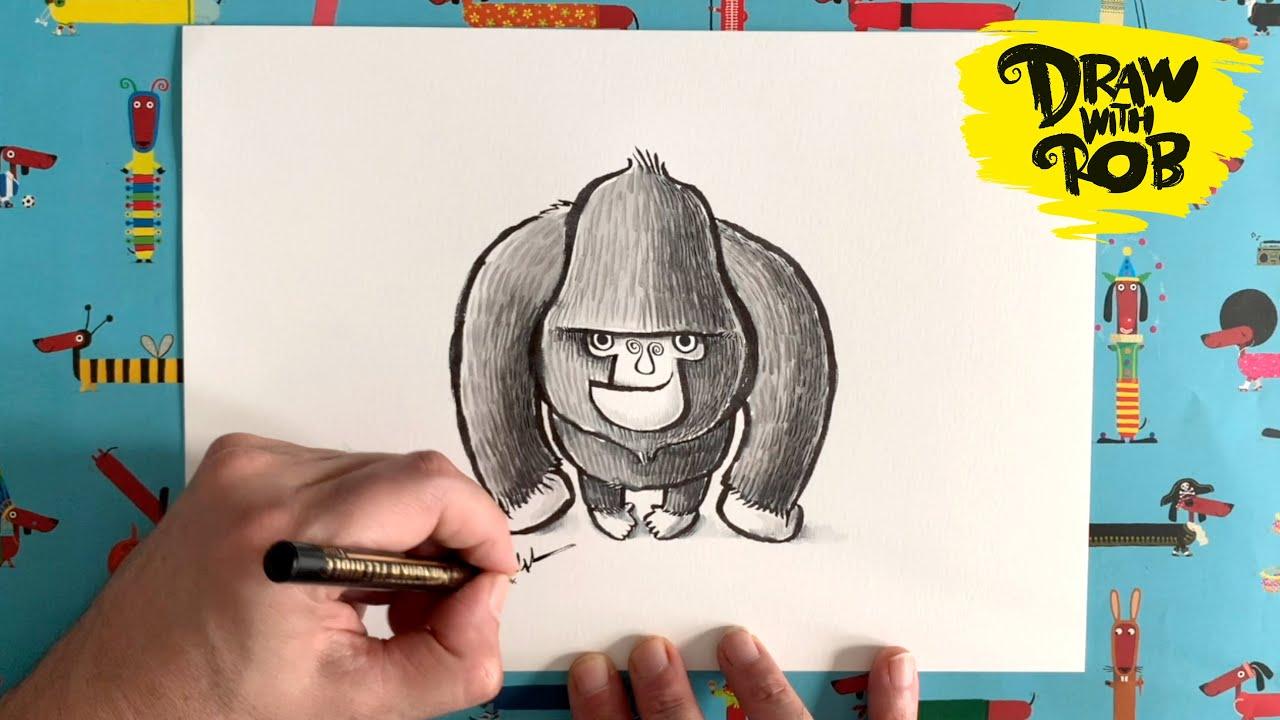 #DrawWithRob 30 Gorilla