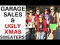 Wearing Ugly Christmas Sweaters To Garage Sales 🎅 | Ralli Roots