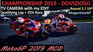 MotoGP 2019 MOD | Dovizioso | 2# ArgentineGP | TV REPLAY PC GAME