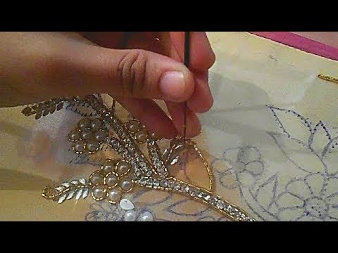 hand embroidery designs for dresses moti jari nag installation tutorial