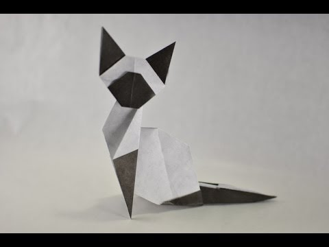 tutoriel origami chat