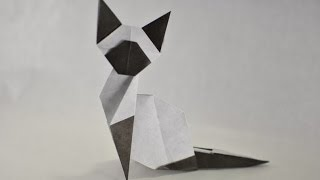 Origami (easy) Siamese Cat by Makoto Yamaguchi - Yakomoga Origami tutorial
