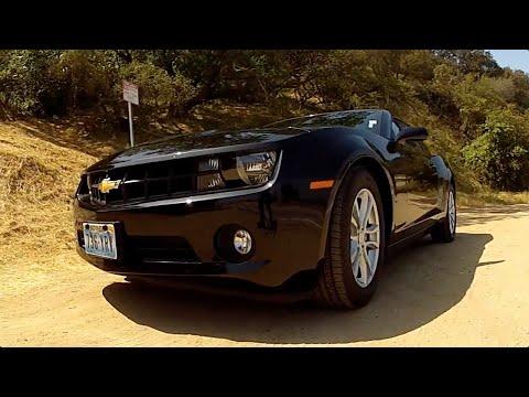 Driving a Camaro around Mulholland Drive, LA