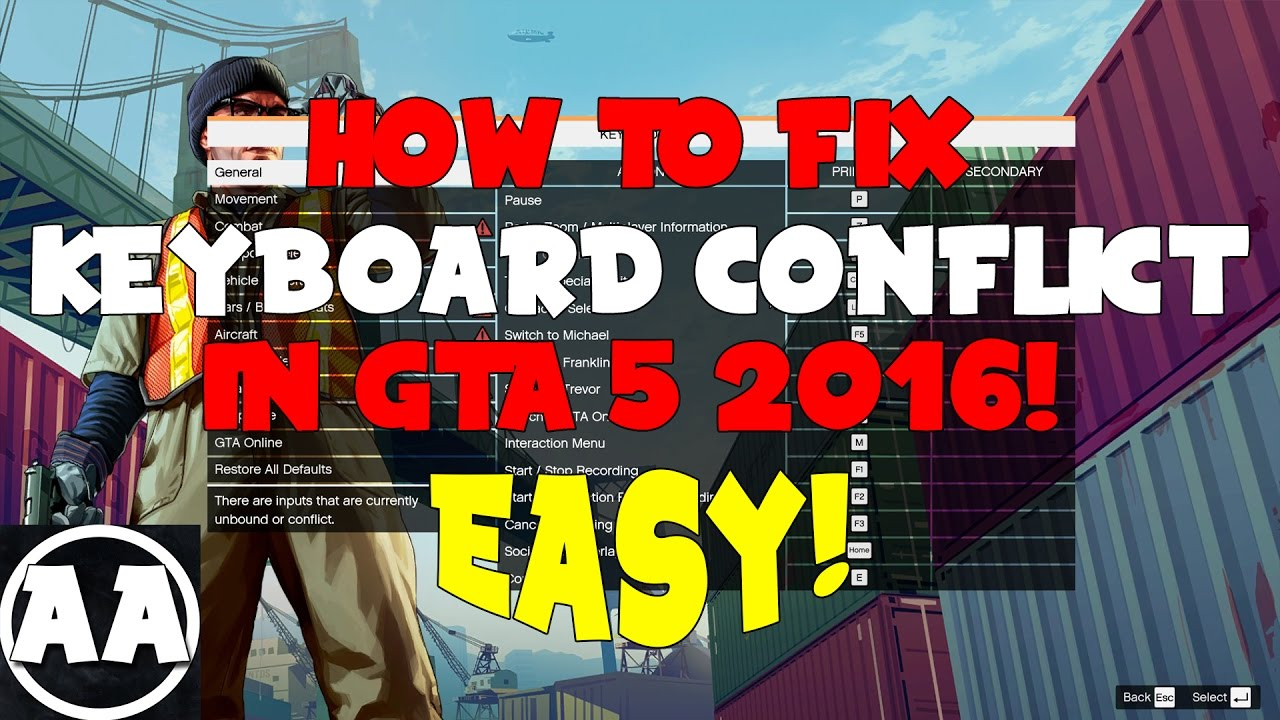 How To Fix Keyboard Conflict In GTA 5 EASY! [2018]
