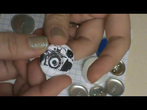 How to make  { Paper covered buttons } Tutorial