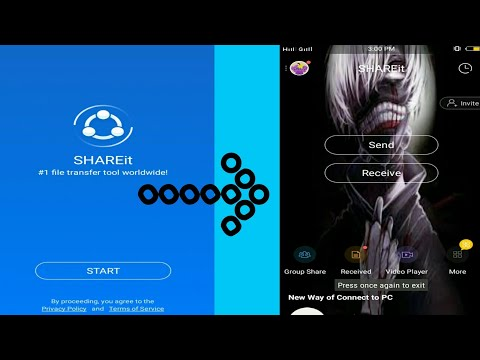 Shareit: Change background picture