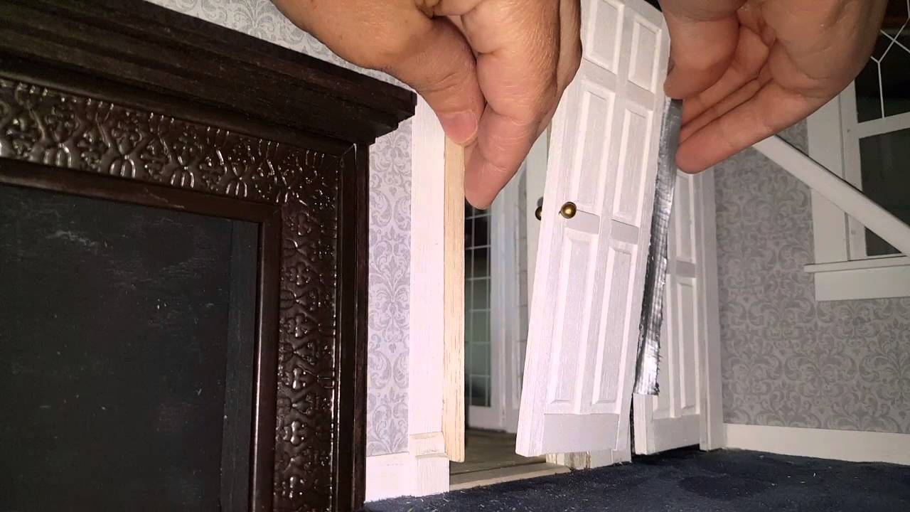 & Dollhouse Closet and Bedroom Doors - YouTube
