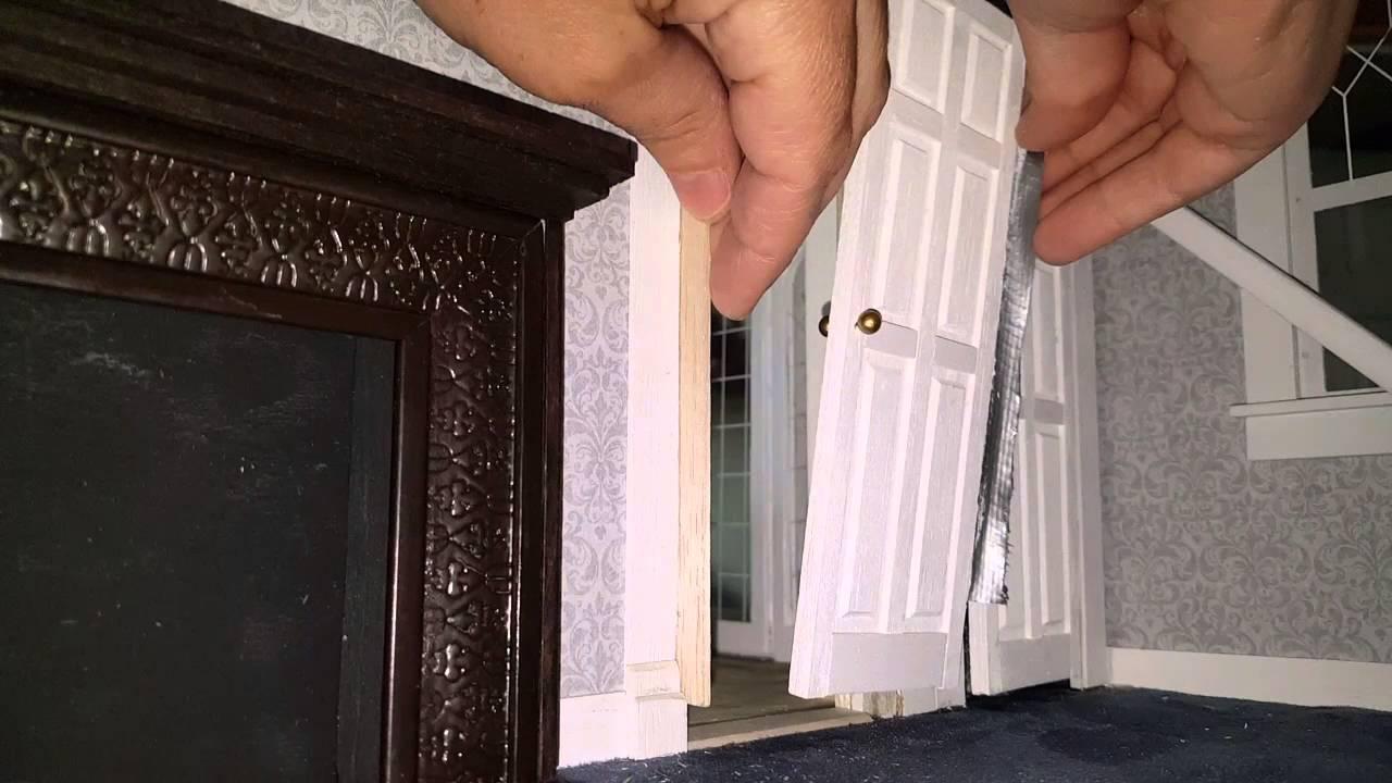 Dollhouse Closet And Bedroom Doors Youtube