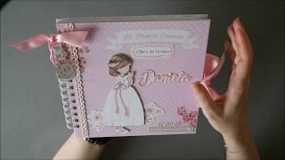 Libro de firmas comunion niña