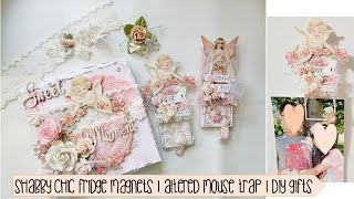 Shabby Chic Fridge Magnets | Altered mouse trap | DT Reneabouquets