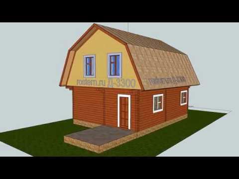 Дачный дом Д-3300 #ростерн #дом #дача #дерево #деревянный #проект #брус
