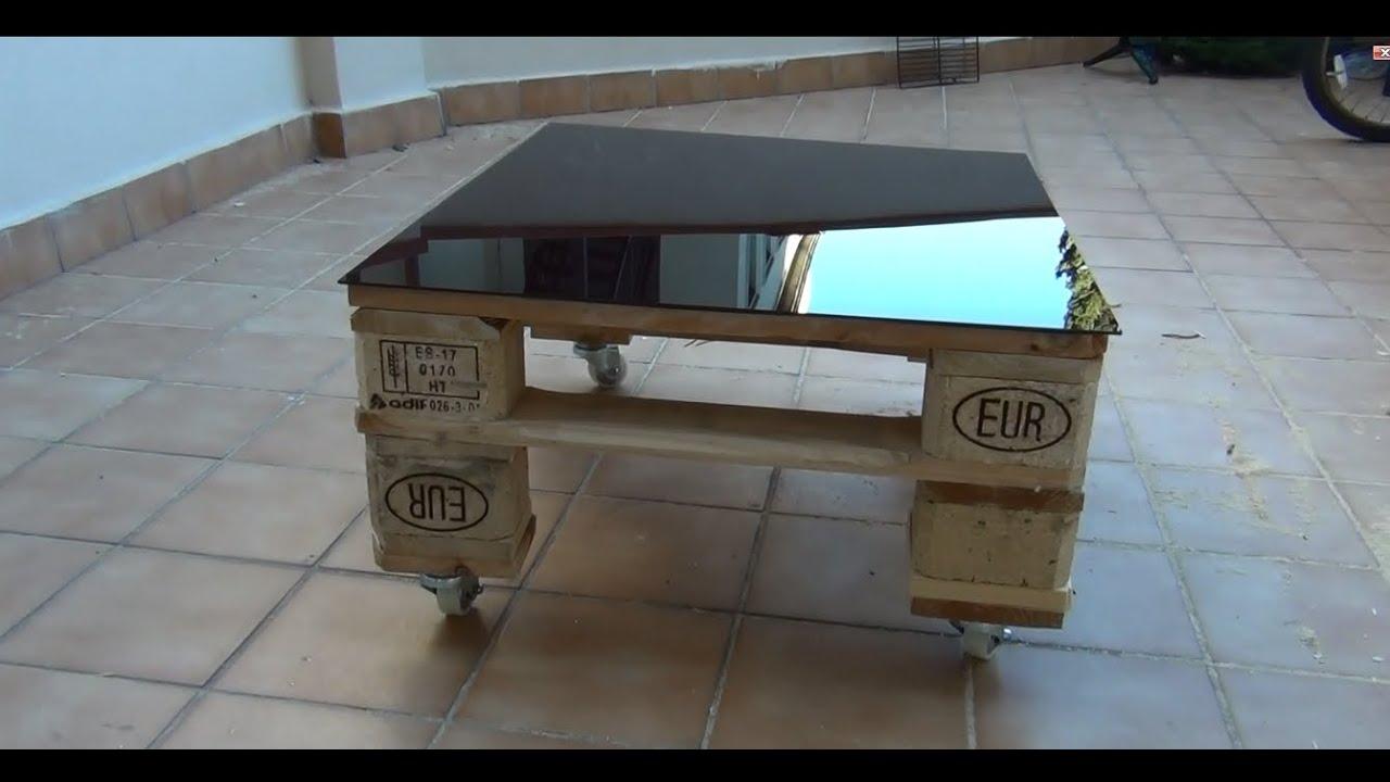 Hacer una mesa con palets con ruedas youtube for Como hacer mesa de trabajo con palets