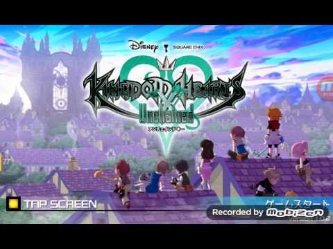 Kingdom hearts unchained X title screen Android