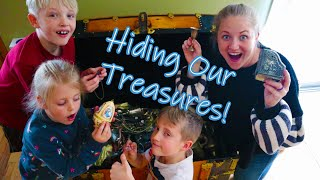 Hiding Our Treasures! Playing Huckle Buckle Beanstalk / Family Games / The Beach House