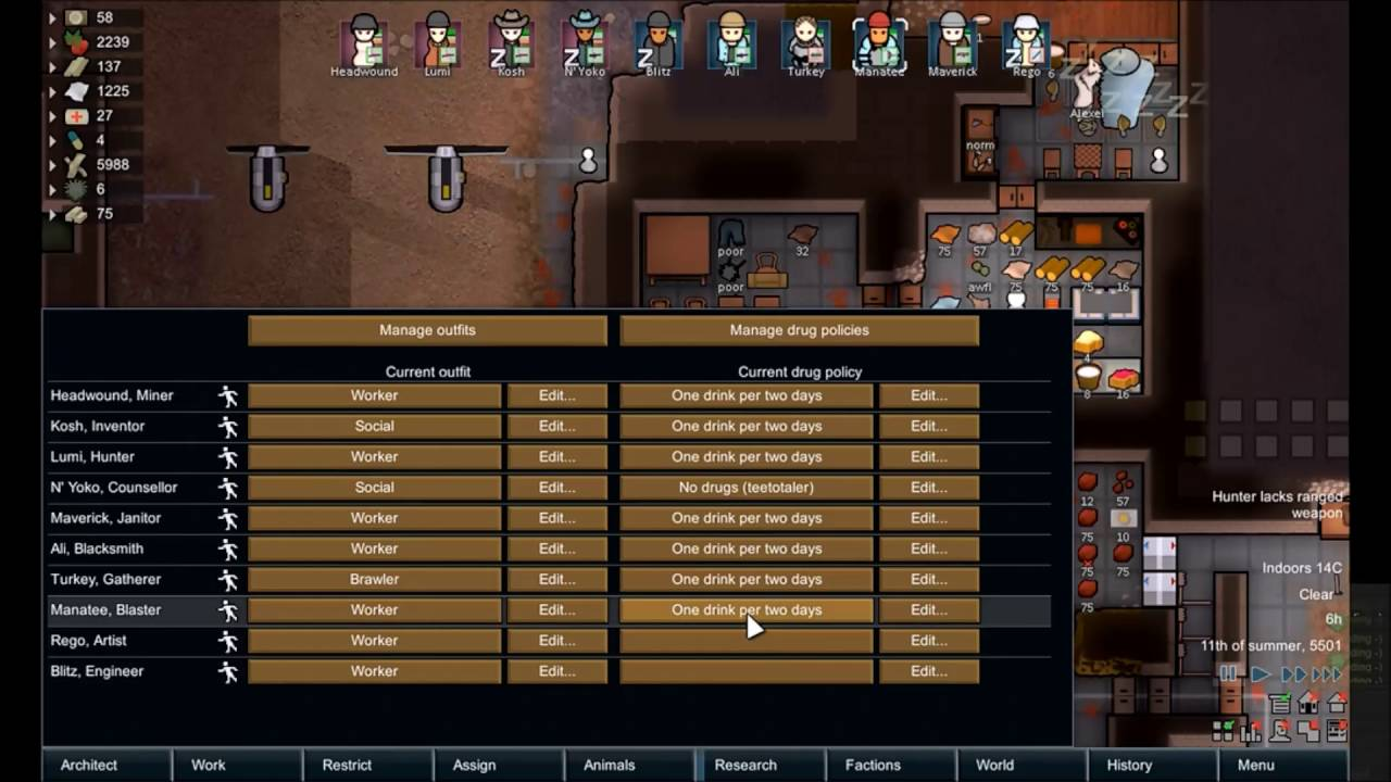 Download Rimworld Alpha 15c #14 Blitz, new factions and Beavers