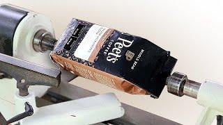 Woodturning | Coffee Beąns into a Coffee Mug!