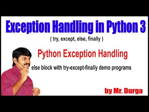 Python Tutorials || Python Exception Handling || else block with try except finally demo programs thumbnail