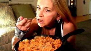 mukbang vegan mama mi s eating show kimchi riceplant based and give away