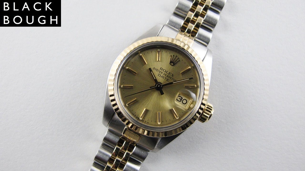 d1917a2ed49 Rolex Oyster Perpetual Date Ref. 6917 lady's vintage wristwatch, circa  1983. Black Bough Watches