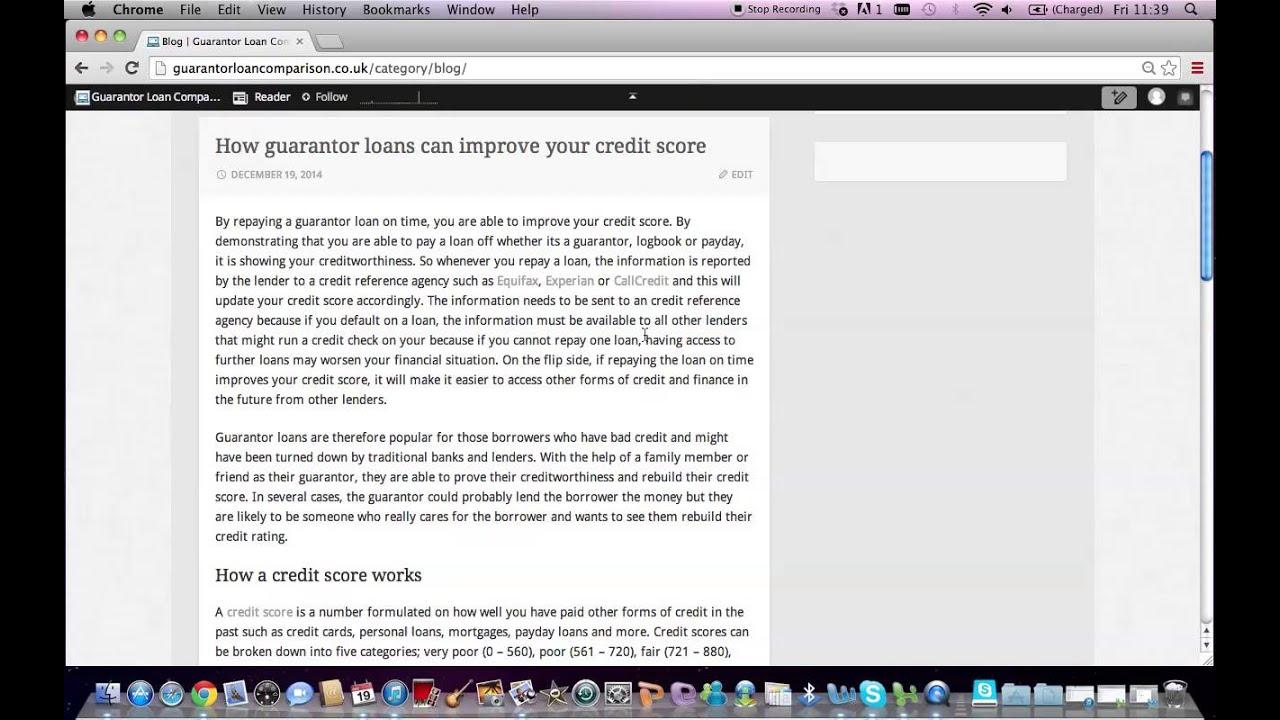 How guarantor loans improve credit scores | Guarantor Loan