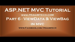 Part 6  ViewData and ViewBag in mvc
