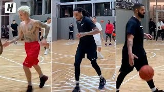 Drake Playing Pickup Games with Justin Bieber, Quavo & More in New York!