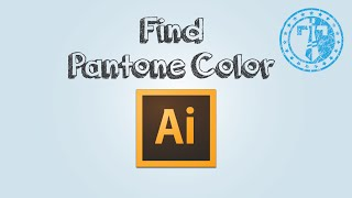 How to find pantone color code in Adobe Illustrator
