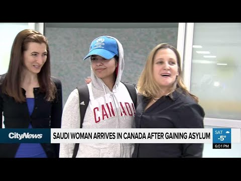 Saudi woman arrives in Canada after getting asylum