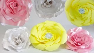 Moldes Para Hacer Flores Gigantes De Cartulina