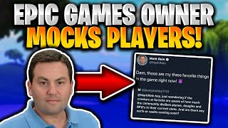 Epic Games Owner CRAZY POWER TRIP! Epic Does NOT Care About The State Of Fortnite!