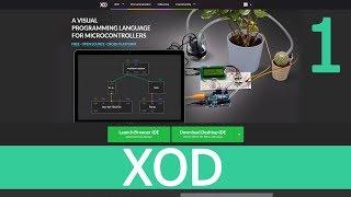 XOD IDE - знакомство и первый урок, Arduino и светодиоды - 1