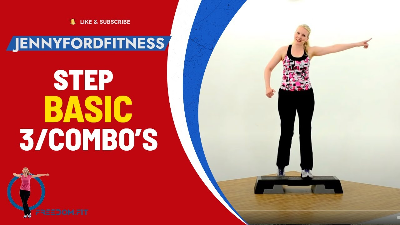Step Aerobics Basic w/3 Combos-Fitness Cardio Workout ...