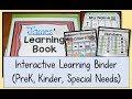 Interactive Learning Binder (Preschool, Kindergarten, Special Needs)