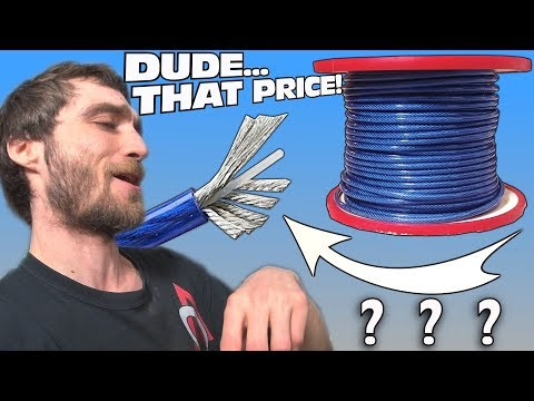 """AMAZING FIND on Amazon!!! MONSTER 8 Gauge OFC Car Audio Wire & Explaining """"The Bump"""" on My Head"""