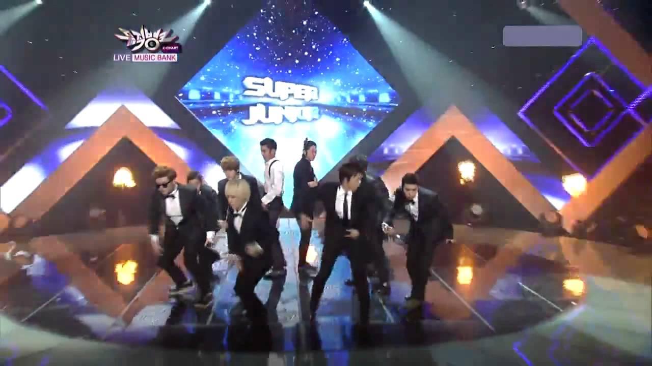 Download [HD] 110805 Super Junior - Super Man Comeback Stage Music bank