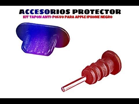 Video de Kit tapon anti-polvo para Apple iPhone  Negro