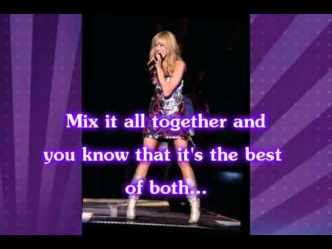 Miley Cyrus - Best Of Both World Karaoke Version Hannah Montana