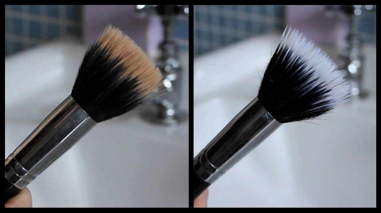 How To Clean Makeup Brushes Easiest Cheapest Way Youtube