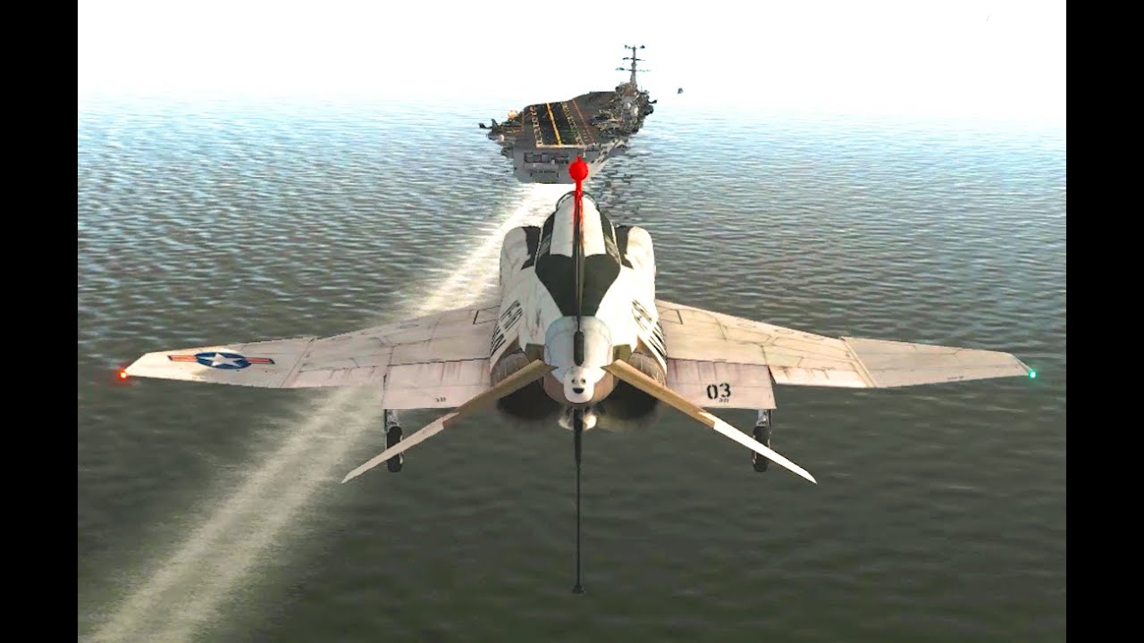 How To Take Off And Landing On A Moving Aircraft Carrier ...