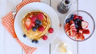 Peanut Butter Stuffed Pancakes with Berries- Everyday Food with Sarah Carey