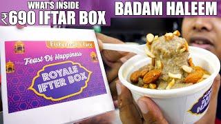 What's inside 690 Rupees Royal Iftar Box - Badam Haleem - Fisherman's fare