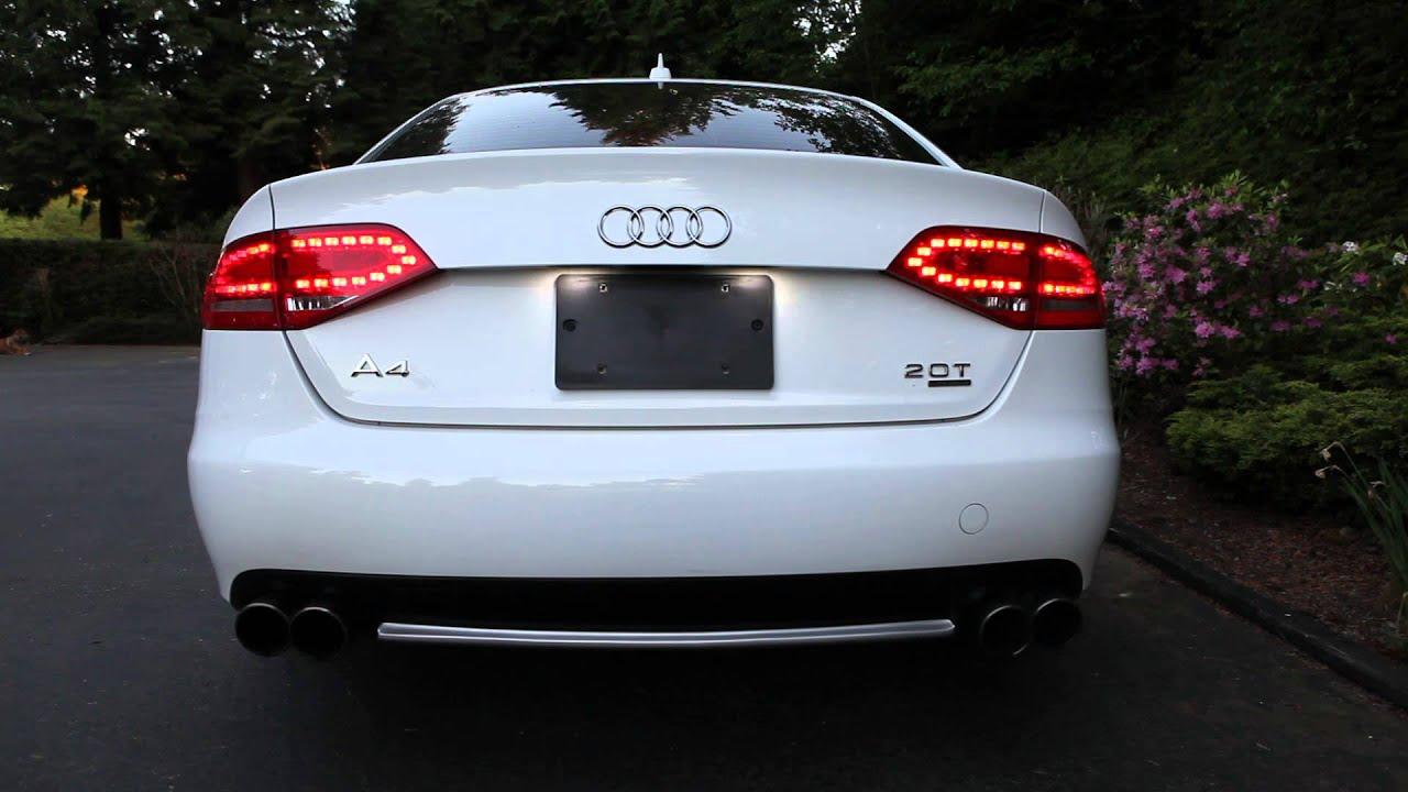 B8 Audi A4 Jun BL Exhaust Muffler Delete + Test Pipe