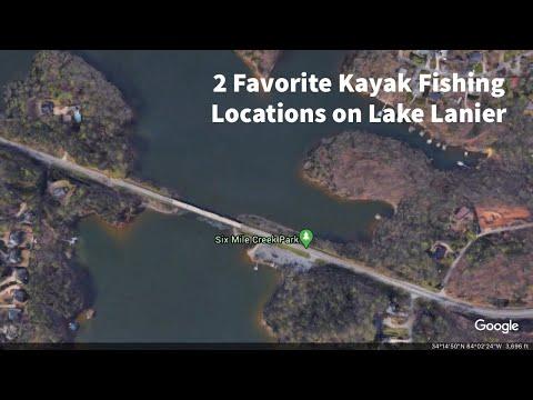2 Favorite Lake Lanier Kayak Fishing Locations - Bass, Striper, Crappie..etc.