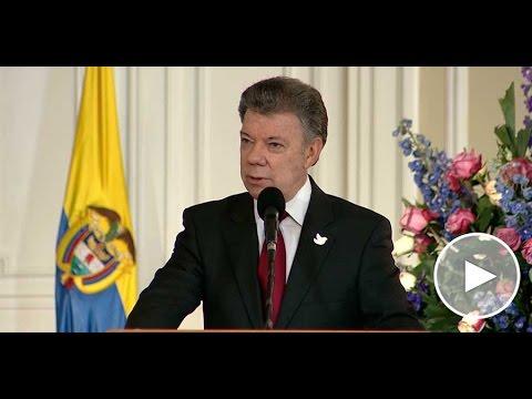 Presidente Santos en la posesión del Fiscal General de la Nación - 1° de agosto de 2016
