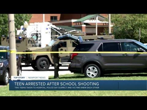 Police: 2 shot at Virginia high school, suspect in custody