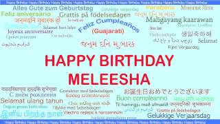 Meleesha   Languages Idiomas - Happy Birthday