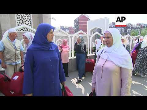 Hajj pilgrims leave for Mecca